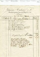 Paris I er 30 Quai de la Mégisserie - Célèbre Maison Graines Vilmorin 14/03/1862