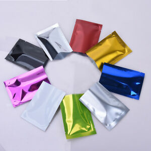 Open Top Heat Seal Aluminum Foil Bags Vacuum Storage Mylar Food Bags Pouches