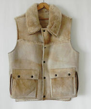 Overland Sheep Skin CO.Vest Tan/Camel tone 4 Pockets 5 Snap buttons Size M/L