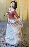 ROYAL DOULTON LADY SUSAN MODEL No. HN 3871  PINK & YELLOW DRESS & ROSE PERFECT