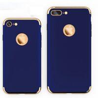 For Apple iPhone 8 Plus Shockproof Ultra Thin Slim Stylish Hard Case Blue