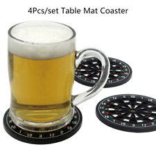 New listing 4Pcs Kitchen Table Mat Utensils Dart Board Styled Cup Mouse Pad Coast Place Dd