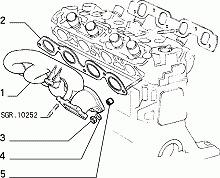 Collettore di Scarico - Exhaust Manifold FIAT (60805403) 7631710