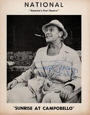 Ralph Bellamy (as FDR) & Mary Pickett Autographs, Sunrise At Campobello 1959