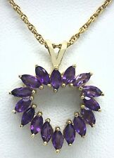 GENUINE 2.46 Carats AMETHYST PENDANT 10k Yellow Gold  *** FREE SHIPPING ***