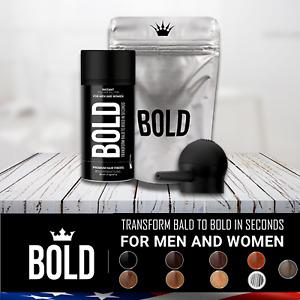 BOLD Dark Brown Black Medium Brown Gray 27.5g Hair Building Thickening Fibers US
