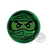 1x LEGO 98138pb047 Piatto Decorato Ninjago Trapped Lloyd 1x1 Verde trasp.