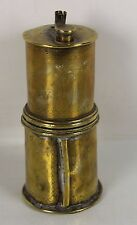 POWDER CHARGER CUP BRASS ARMS. 18TH CENTURY
