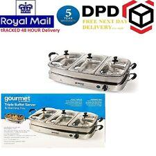 Mpl gourmet par SensioHome triple 6.4L buffet server avec le réchauffement plateau gbstbs 005