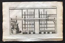 LIBRO Antico Stampa/Piastra 1772, Oleificio, le macchine 18th secolo 1700 S Steampunk