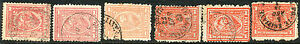EGYPT 1872 Sphinx before Cheopspyramide 1 Pia from pink (3) to brickred (11) VFU