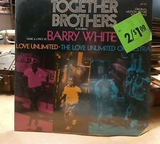 """""""Together Brothers"""" 1974 Soundtrack LP, Barry White. Sealed"""