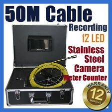 50M Cable Under Water Sewer Drain Pipe Wall Recording Camera Meter Counter