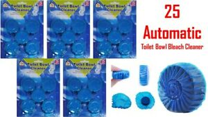 25 Automatic Bleach Toilet Bowl Cleaner Stain Remover Blue Tablet (Best Quality)
