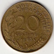 1963 FRANCE 20 TWENTY CENTIMES NICE WORLD COIN