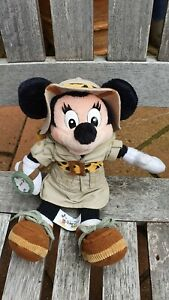 """Disney's Animal Kingdom Safari Minnie Mouse Plush Stuffed Animal 11"""" - Used"""