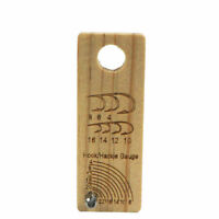 2pcsXAventik Fly Tying Gauge Wooden Hook Size Gauge Measure Tool Fly Tying Tools