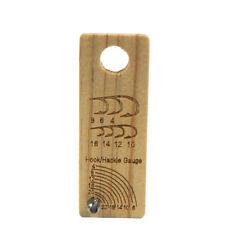 2pcsXAventik Fly Tying Gauge Wooden Hook Size Gauge Measure Tool Fly Tying Tools
