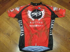 STRICKLY BICYCLES by GIORDANA SHORT SLEEVE FULL ZIP CYCLING JERSEY RED BLK  WHT M 73492725f