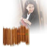 55pc Bambus Stricknadel Set Dual Spitz 11 Größen 2~5mm Länge 14cm Nadelspiel Hot
