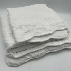 Scenario 100% Cotton Bedroom Set Bedside Rug & 4 Cushion Covers White Quilted