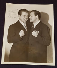 1945 - JOEY ADAMS AUTOGRAPH - STUDIO PHOTO (NY) - WITH TONY CANZONERI - ORIGINAL