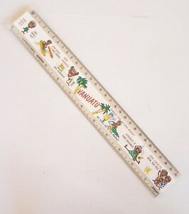 VINTAGE VANUATU TOURIST SOUVENIR PROMO 30cm PHOTO RULER