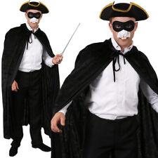 Mens Long Black Coat /& Hat 18th Century Costume Highwayman 19th Poldark 40-42 IN