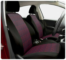 Car seat covers fit Skoda Fabia - full set black / red