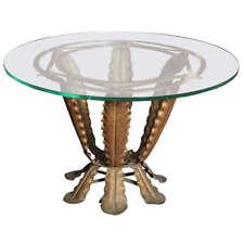 Art Deco Iron Cocktail Table By Pier Luigi Colli made in Italy