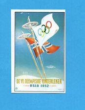 OLYMPIA-1972-PANINI-Figurina DA INCOLLARE! n.274- OSLO 1952 - MANIFESTO -Rec