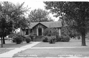 H73/ Laurens Iowa RPPC Postcard c1962 Public Library Building  50