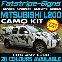 MITSUBISHI L200 CAMO GRAPHICS STICKERS DECALS WARRIOR BARBARIAN TITAN 4LIFE