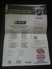 Millwall v Bradford City, League One Play Off Semi Final 2015-16, teamsheet