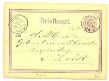 NED  EGYPT LANGST = OEGSTGEEST =BLAUW  1876  BRIEFKAART  ZEER FRAAI