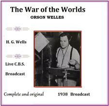 The War of the Worlds -Orson Welles- Live Complete 1938 CBS Broadcast  H G Wells