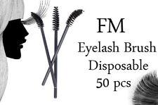 50 Disposable Mascara Wands Eyelash Brushes Spooler Lash Extension Applicator UK