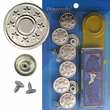 17 mm No-Sew Replacement Jean Tack Buttons w/Tool (BCN1T8)  8 CT.