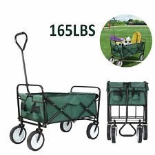 Collapsible Folding Wagon Beach Camp Garden Outdoor Utility Cart Sport Buggy Toy