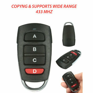 Universal Cloning Electric Gate Garage Door Remote Control Key Fob 433mhz Cloner