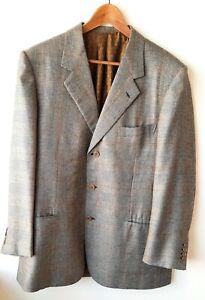 Brioni Palatino Roman Style sport coat 100% cashmere  size 54 R  _ Plaid check