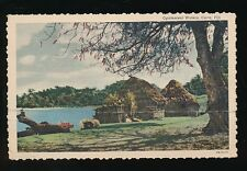 FIJI Cuva Opalescent Waters PPC Used 1953 KG6 ½-5d 6 stamp franking
