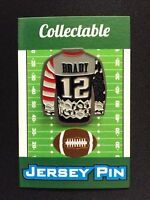 New England Patriots Tom Brady lapel pin-Sweater styled-Classic Collectable