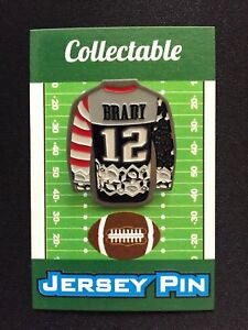 New England Patriots Tom Brady jersey lapel pin-Sweater styled-Collectable
