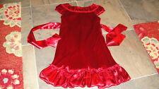 BISCOTTI GIRLS 3T RED VELOUR DRESS