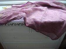 Brand New Large Pure Silk Organza Scarf Shawl Purple Gold Jewel Tones Stunning