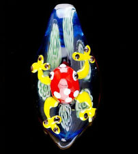 Fashion Jewelry Frog Lampwork Glass Bead Pendant For Necklace Making DIY