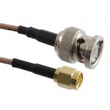 US MADE  BNC  plug to  SMA  plug coax Cable  MIL-RG-142  50 ohm    75 FT