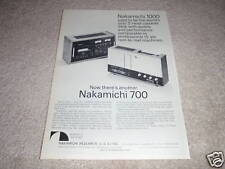 Nakamichi 1000,700 Cassette Ad, Ultimate! Specs, Info and Article, Frame it!