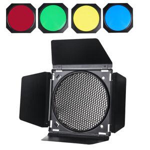 "LAOFAS BD-04 Barndoor Kit+ Honeycomb Grid for 7"" Standard Reflector SL60W SL150W"